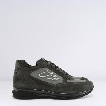 Sneaker in camoscio Grigio