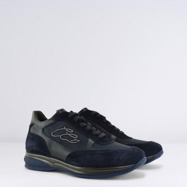 Sneaker in camoscio Blu