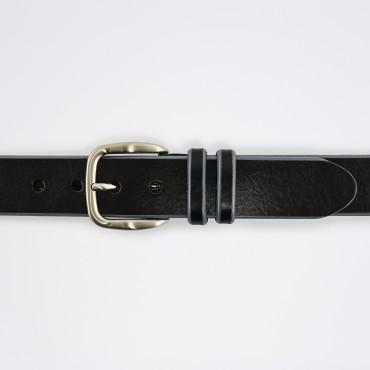 Cintura in Pelle Nero Bicolor