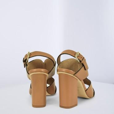 Sandalo Alto Col. Cuoio