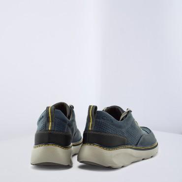 Sneaker Charton Mix Col. Blu