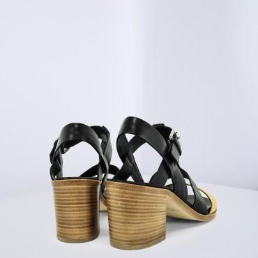 Sandalo Bicolore Nero Giallo