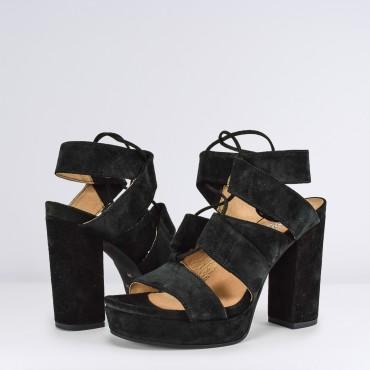 Sandalo allacciato Col. Nero