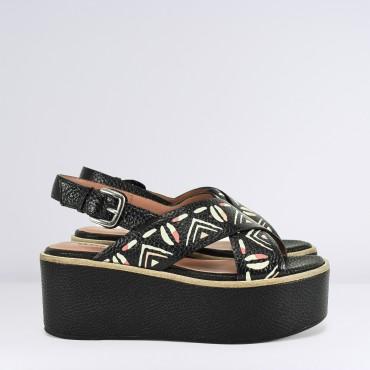 Sandalo ad incrocio Etnico
