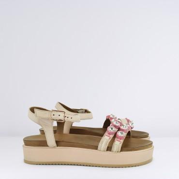 Sandalo con strass Col. Cipria