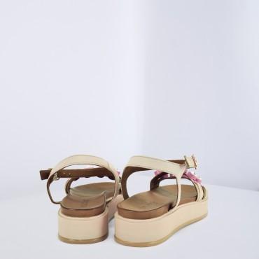 Sandalo con strass Col. Nero