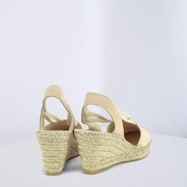 Sandalo Espadrilles in Paillettes Cipria