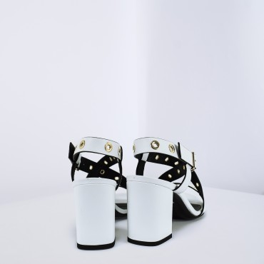 Sandalo in pelle Col. Bianco