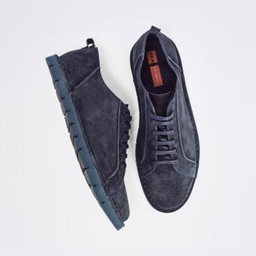 Sneaker Camoscio Col. Blu