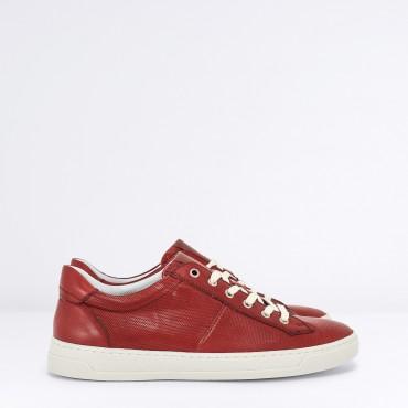 Sneaker in Pelle Col. Rosso