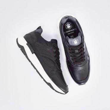 Sneaker in Pelle Col. Nero