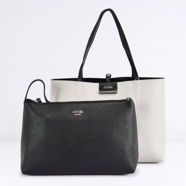 aeffe5e67b Borsa Shopping Reverse Col. Nero Panna GUESS - RICCI SHOP