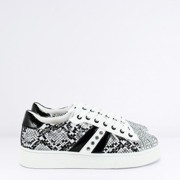 Sneaker Strass Col. Bianco Nero