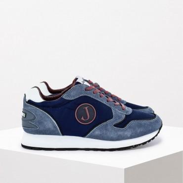 Sneaker in Camoscio e Tessuto Col. Blu