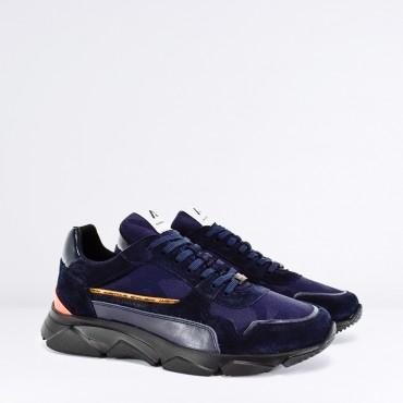 Sneaker in Camoscio Col. Blu