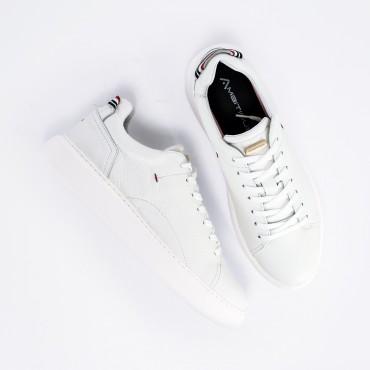 Sneaker in Pelle Col. Bianco