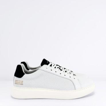 Sneaker in Pelle Col. Bianco Blu
